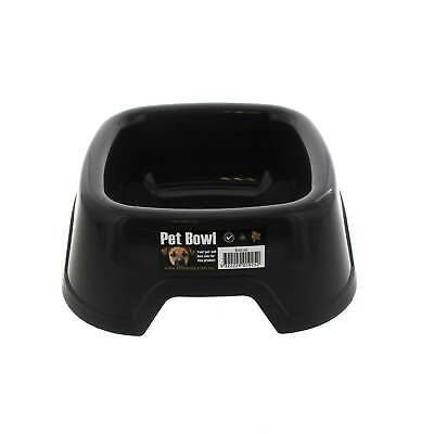 Dog Bowl Square Sml Black K9 Homes Heavy Duty Plastic Easy To Clean