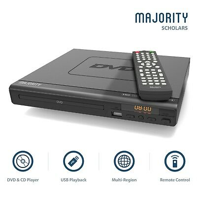 Majority Scholars Compact DVD Player HDMI Upscaling USB Multi Region DivX