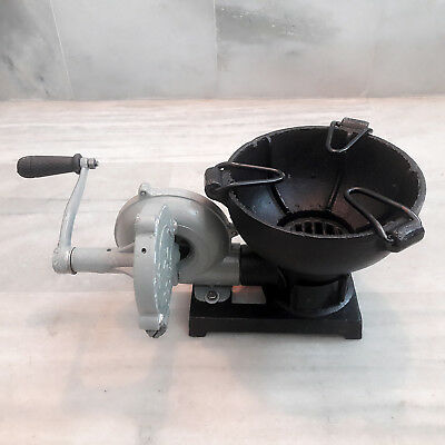 """Forge Furnace With Hand Blower Vintage Style Pedal Type Handle Bowl Size 7.5 """""""