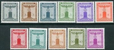 GERMANY-3rd Reich 1942 Party Official Set of 11 Values Sg 0798/808 UNMOUNTED/M