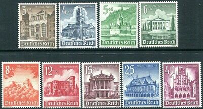 GERMANY-3rd Reich 1940 Winter Relief Fund Set of 9 Values Sg 739-47 UNMOUNTED/M