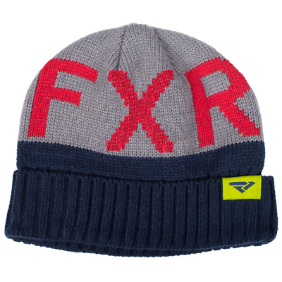 FXR HELIUM SNOWMOBILE SKI COLD WEATHER  KNIT Navy/Gray BEANIE CAP HAT - ONE SIZE