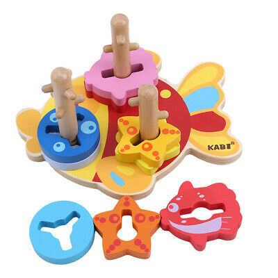 Toddlers Building Blocks Fish Shaped Block Construction Toys Children Game 6A