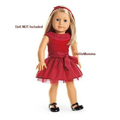 New American Girl Joyful Jewels Outfit Red Holiday Party Dress Isabelle Tenney