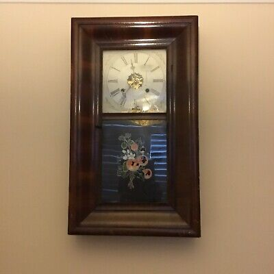 Antique American Wooden Case wall clock-Made by Ansonia Brass & Copper Company