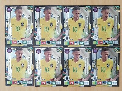 Panini Road to World Cup 2018 Adrenalyn XL. 8 x Limited Edition cards (Neymar jr