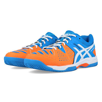 Asics Mens Gel-Padel Pro 3 Tennis Shoes Blue Orange Sports Breathable
