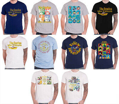 The Beatles T Shirt Yellow Submarine Sea Of Science band Official Mens Black