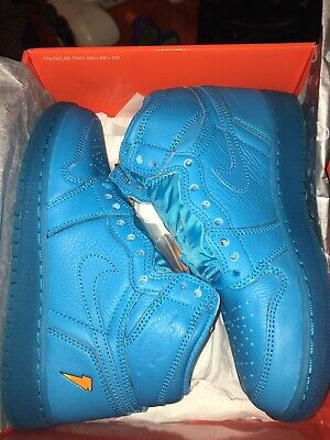 7ace924fede1 Nike Air Jordan 1 Retro High OG G8RD BG SZ 4y Gatorade Blue Lagoon AJ6000-