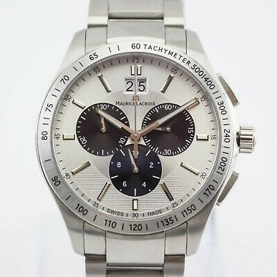 Maurice Lacroix Stainless Steel Chronograph Mens Watch Ref: 1028 RRP £1150