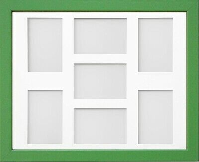 Frame Company Jellybean Green Wooden Multi Aperture Collage Photo frame & Mount