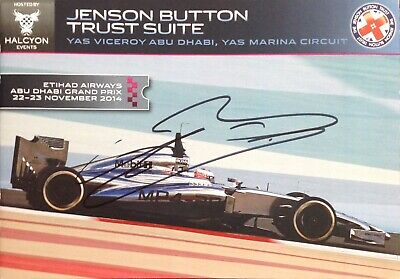 Jenson Button Trust Suite Booklet Authentic Signed Aftal#198