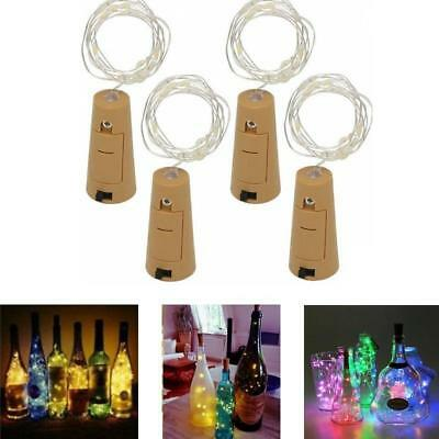 Bottle Fairy String Lights Battery Cork Shaped Christmas Wedding Party 20 LED 2m