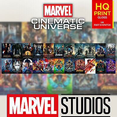 22 Marvel Cinematic Universe Movie Art Film Poster Print 2008-2019 | A4 A3 A2 |