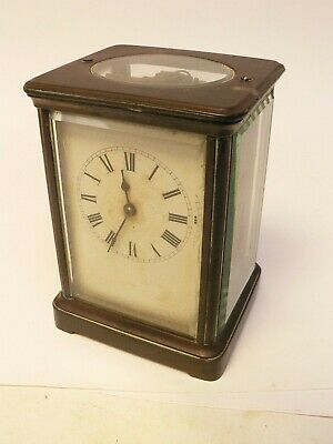 Antique Brass Carriage Clock, for Restoration or Parts