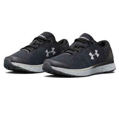 Under Armour Junior Charged Bandit 3 Running Shoes Trainers Sneakers Black White