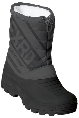 FXR Youth Child Kids OCTANE SNOW BOOTS - Black/Charcoal -  Size  13  - NEW