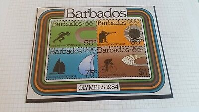 Barbados 1984 Sg Ms749 Olympic Games Mnh