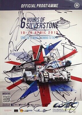 2015 World Endurance Championship Program Signed By 17 Webber Aftal#198