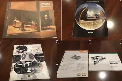 AMAZING OPPORTUNITY - Rare Vintage Collection Of Sony HIFI Manuals And  Brochures