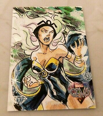 2016 Upper Deck Marvel Gems STORM X-Men Sketch Card Thiago Vale Artist