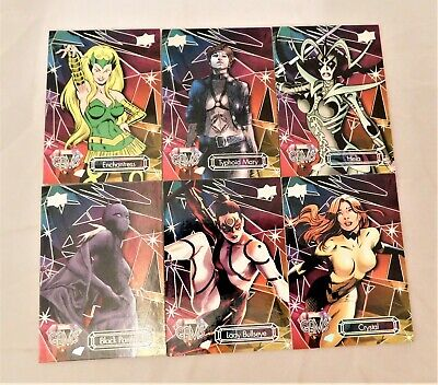 2016 Upper Deck Marvel Gems Base Card Lot of 6 Enchantress Hela Black Panther