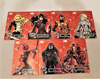 7 2016 Upper Deck Marvel Gems RED PARALLEL Cards Wasp LAdy Deadpool Silver Sable