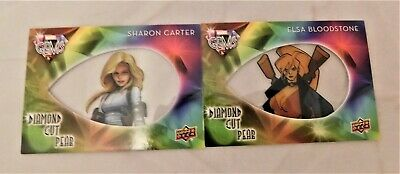 2016 Upper Deck Marvel Gems Diamon Cut Pear SHARON CARTER & ELSA BLOODSTONE
