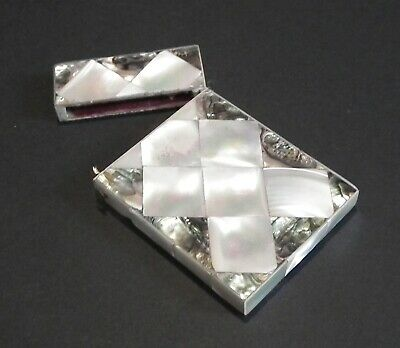 Stunning Victorian Mother Of Pearl & Abalone Calling / Visiting Card Case