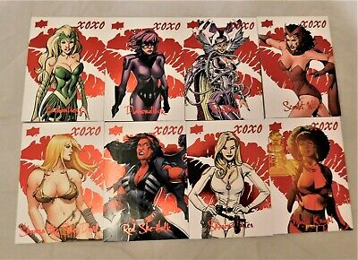 8 2016 Upper Deck Marvel Gems XOXO Cards Enchantress Sharon Carter Scarlet Witch