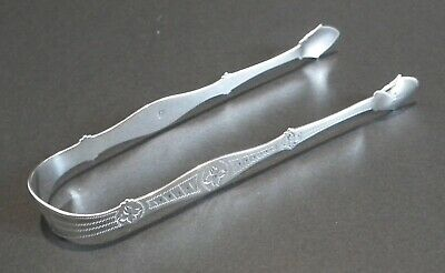 Nice Georgian Bright Cut Silver Sugar Tongs - Peter & William Bateman - Lon 1811