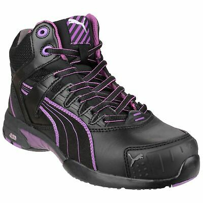 Puma Safety Stepper WMNS Mid Black Ladies Safety Boots Suede S3