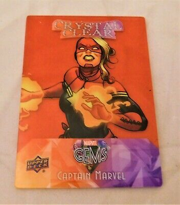 2016 Upper Deck Marvel Gems Crystal Clear RED PARALLEL CC-6 CAPTAIN MAVEL