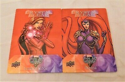 2016 Upper Deck Marvel Gems Crystal Clear RED PARALLEL MEDUSA & SCARLET WITCH