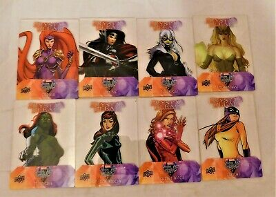 8 2016 Upper Deck Marvel Gems Crystal Clear Black Cat Mystique Medusa Lady Sif