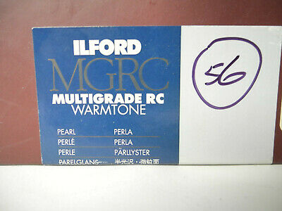 "Lot of 56 8"" x 10"" sheets of Ilford MGRC Warmtone Pearl Print Paper"