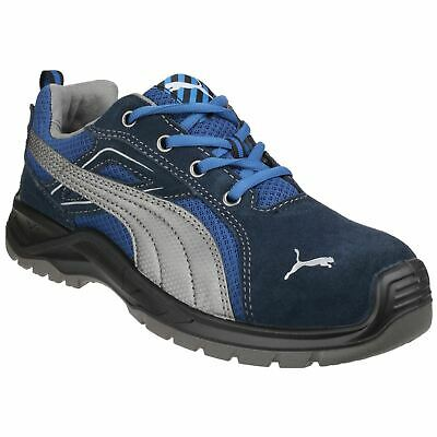 Puma Safety Omni Sky Low Blue Trainers Safety Suede/Textile S1