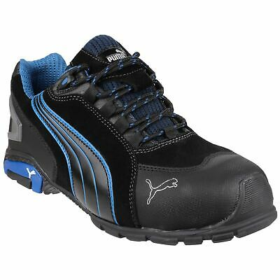 Puma Safety Rio Low Black Trainers Safety Smooth Leather S3