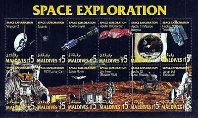Maldive Is. 1994 Space Exploration M/S Mnh Apollo-Soyuz, Apollo Xi