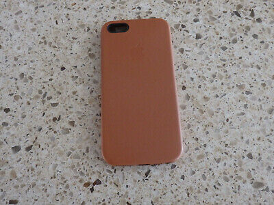 Apple Authentic Original Brown iPhone 5/5S/SE Leather Case - damaged