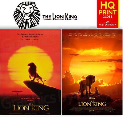 The Lion King 1994/2019 Animated Drama Movie Posters | A4 A3 A2 A1 |