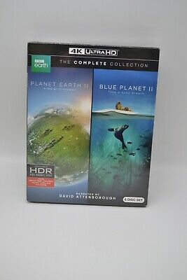 Planet Earth Ii Blue Planet Ii Complete Collection 4K Ultra Hd New Sealed 6 Disc