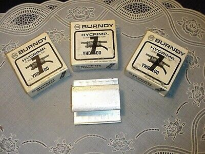THREE (3) FCI-BURNDY YHD-400 HYCRIMP Compression Taps NEW!