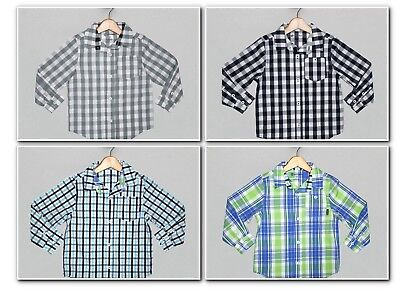 Sprockets Boys Dress Button Down Plaid Shirt, 5, 6, 7, NWT, Easter Spring