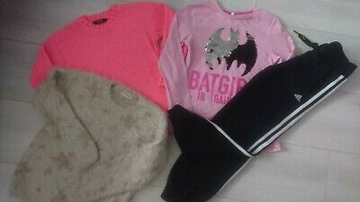 4x SPRING WINTER ADIDAS NEXT GEORGE BUNDLE OUTFITS GIRL CLOTHES 7/8 YRS