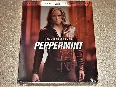 Peppermint (Jennifer Garner) Steelbook /Blu Ray/Import/ WORLDWIDE SHIPPING