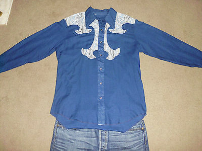 04b58718 VINTAGE 60's-70's Men's Button Down Pearl Snap Cowboy L Western Special Yoke