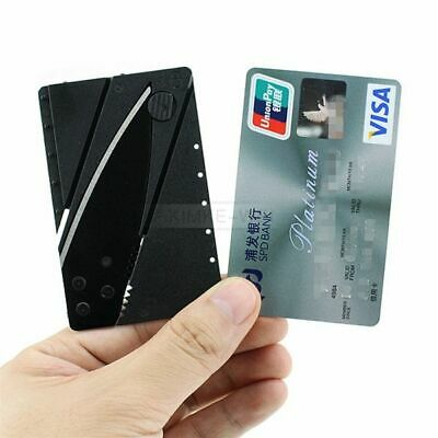 10x Portable Outdoor Cardsharp Credit Card Safety Folding Knife Survival Tool
