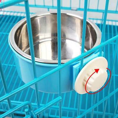Stainless Steel Puppy Dog Feeder Feeding Food Water Dual Bowl for Pet Dog Cat LJ