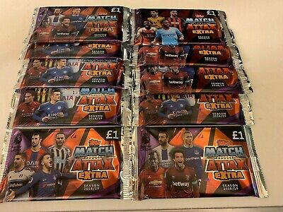 Topps Match Attax Extra 2018 / 2019 10 x Packets NEW SEALED UK Latest